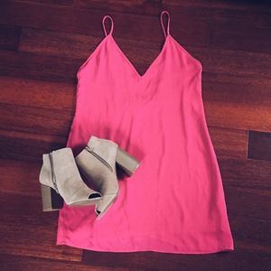 Nasty Gal Pink Slip Dress